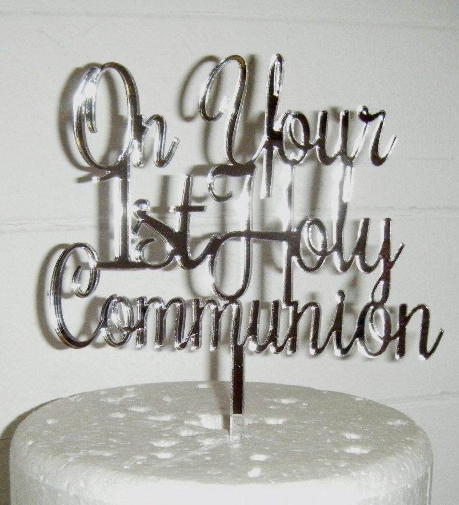 On Your 1st Holy Communion Cake Topper