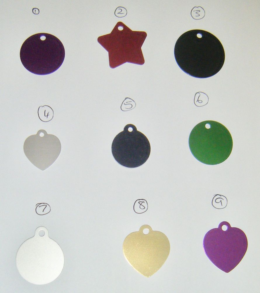 Custom Engraved Aluminium Dog Tags - Choose from Numbered Items
