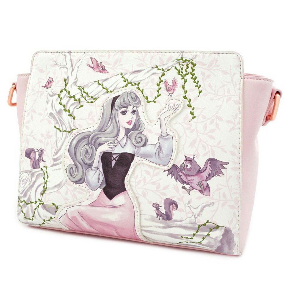 Loungefly x Disney Sleeping Beauty Briar Rose Aurora with Birds Crossbody B