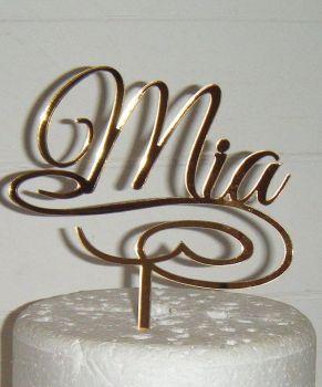 Name Swirl Base Topper Custom Made To Order Design 3