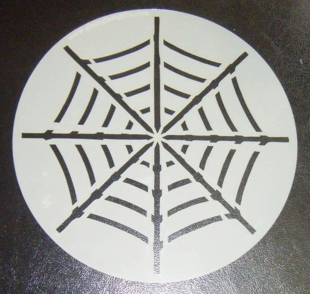 Cobweb Spider Web Cake or Craft Stencil Round