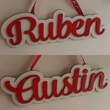 Any Name  - Wooden Name Plaque Sign 30cm long
