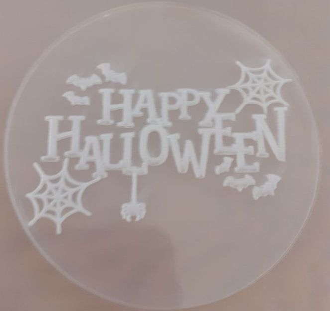 Cupcake Out - Bossing Stamp - Happy Halloween