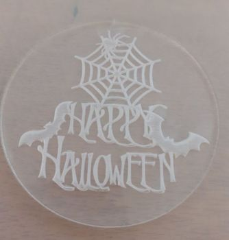 Cupcake Out - Bossing Stamp - Happy Halloween Bats