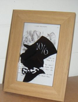 Alice In Wonderland - Mad Hatter -  Wooden Frame - Lasercut Acrylic Silhouette