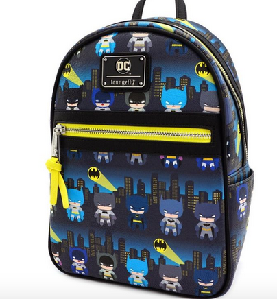 Loungefly X DC Comics: Batman 80th Anniversary Chibi Mini Backpack