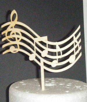 Music Note Silhouette Cake Topper  Design 2