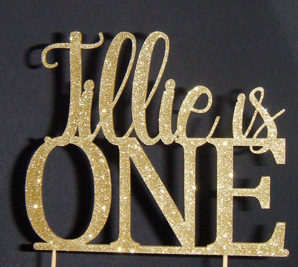 Name is One Cake Topper (Exact style as shown ) Design 3