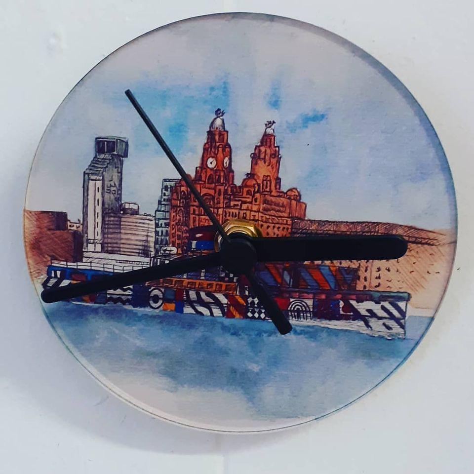 Lasercut Acrylic Bespoke Photograph Or Picture  12cm Clock
