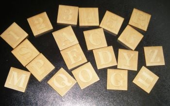 10 x Wooden Letters or Numbers 30mm Squares - Custom Order