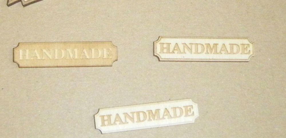 10 x Wooden Handmade Tag