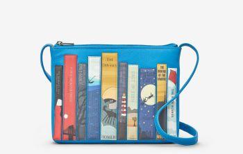 Bookworm Cobalt Blue Leather Cross Body Bag