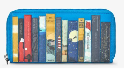 Bookworm Zip Round Leather Purse - Yoshi