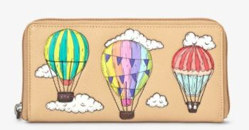 Amongst The Clouds Zip Round Leather Purse - Yoshi