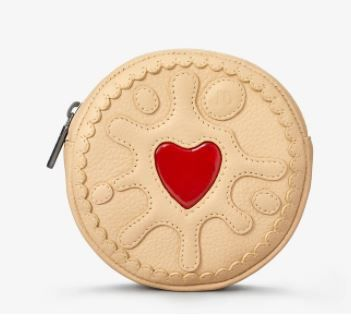 Jammie Dodger Biscuit Zip Round Leather Purse - Yoshi