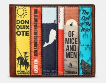 Bookworm Brown Leather Mens Wallet - Yoshi