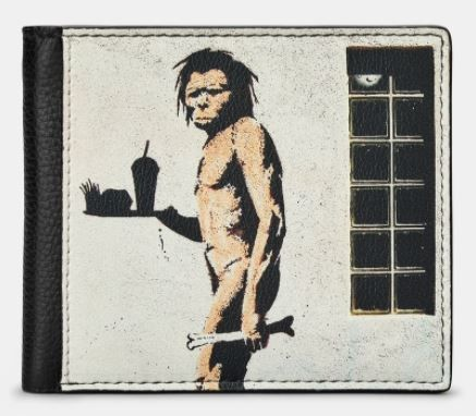 Banksy Ape Black Leather  Mens Wallet - Yoshi