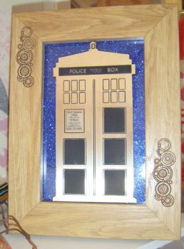 Police Box  -  Wooden Frame - Lasercut