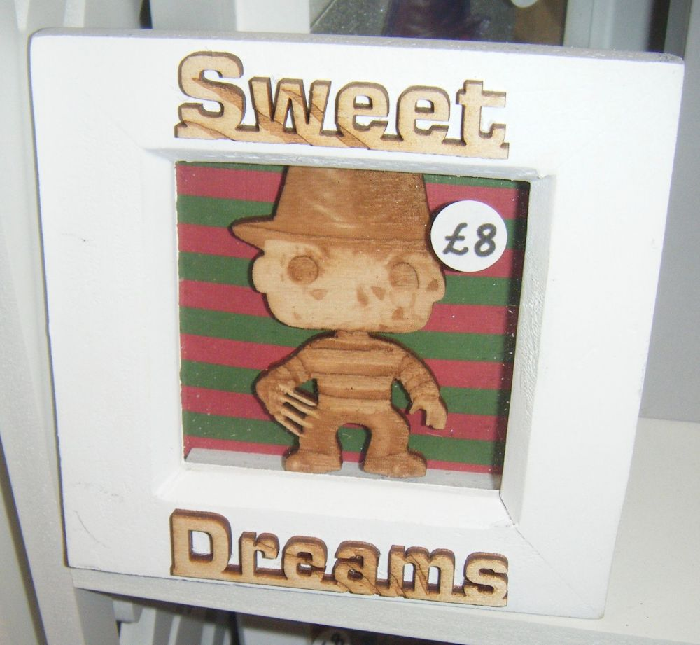Mini Frame - Freddy - Sweet Dreams - Horror