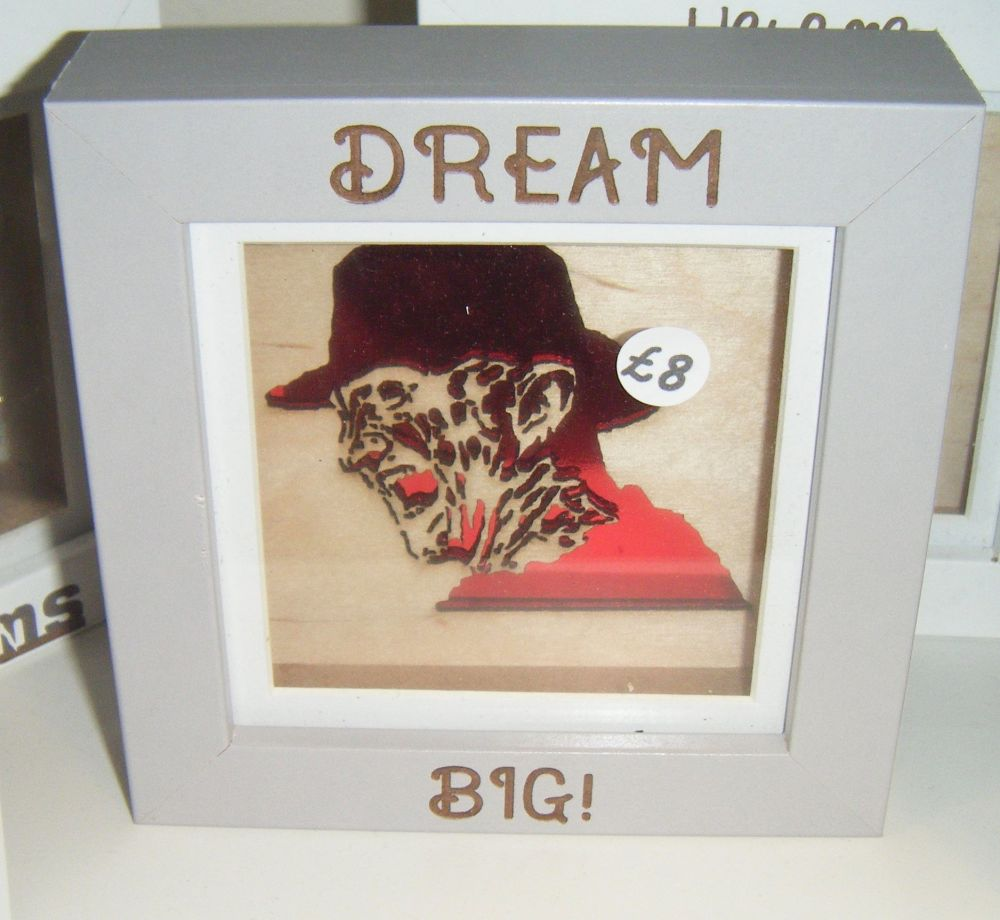 Mini Frame - Freddy - Dream Big - Horror