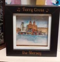 Mersey Ferry - Mini Frame - Liverpool Artwork