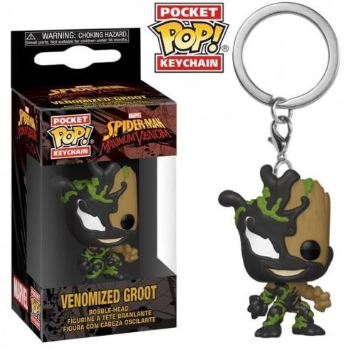 Venom Groot - Mini Funko Pocket Pop Keyring Keychain
