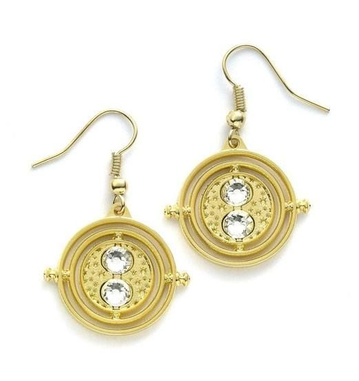 Harry Potter Time Turner Earrings Gold Plated