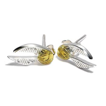 Harry Potter  Golden Snitch Earrings Gold Plated