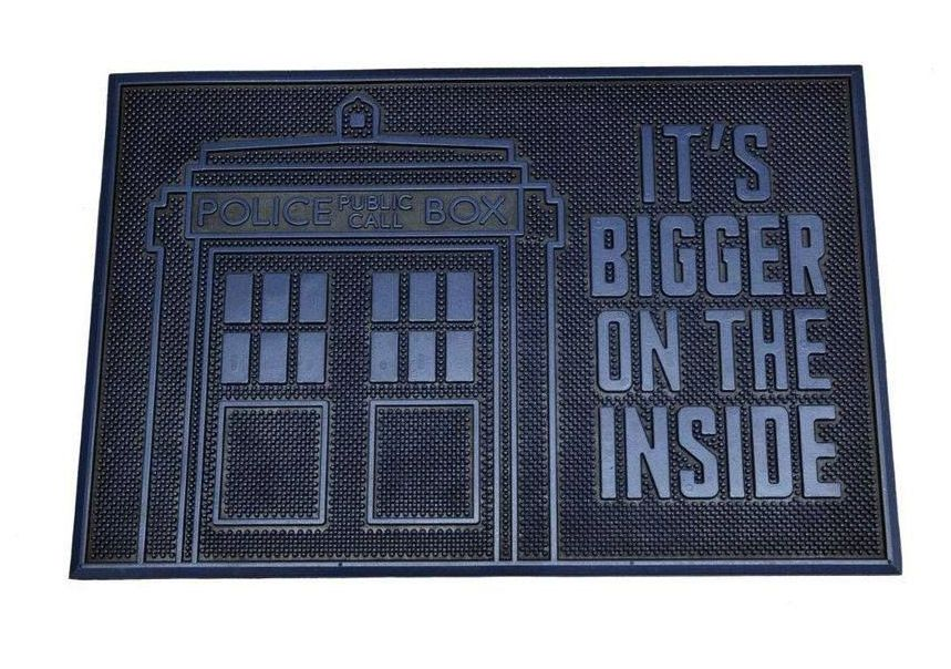 Dr Who Rubber Door Mat -  It's Bigger on the Inside
