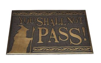 Lord of the Rings Rubber Door Mat - You Shall Not Pass
