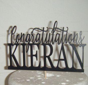 Congratulations Cake Topper - Custom Name
