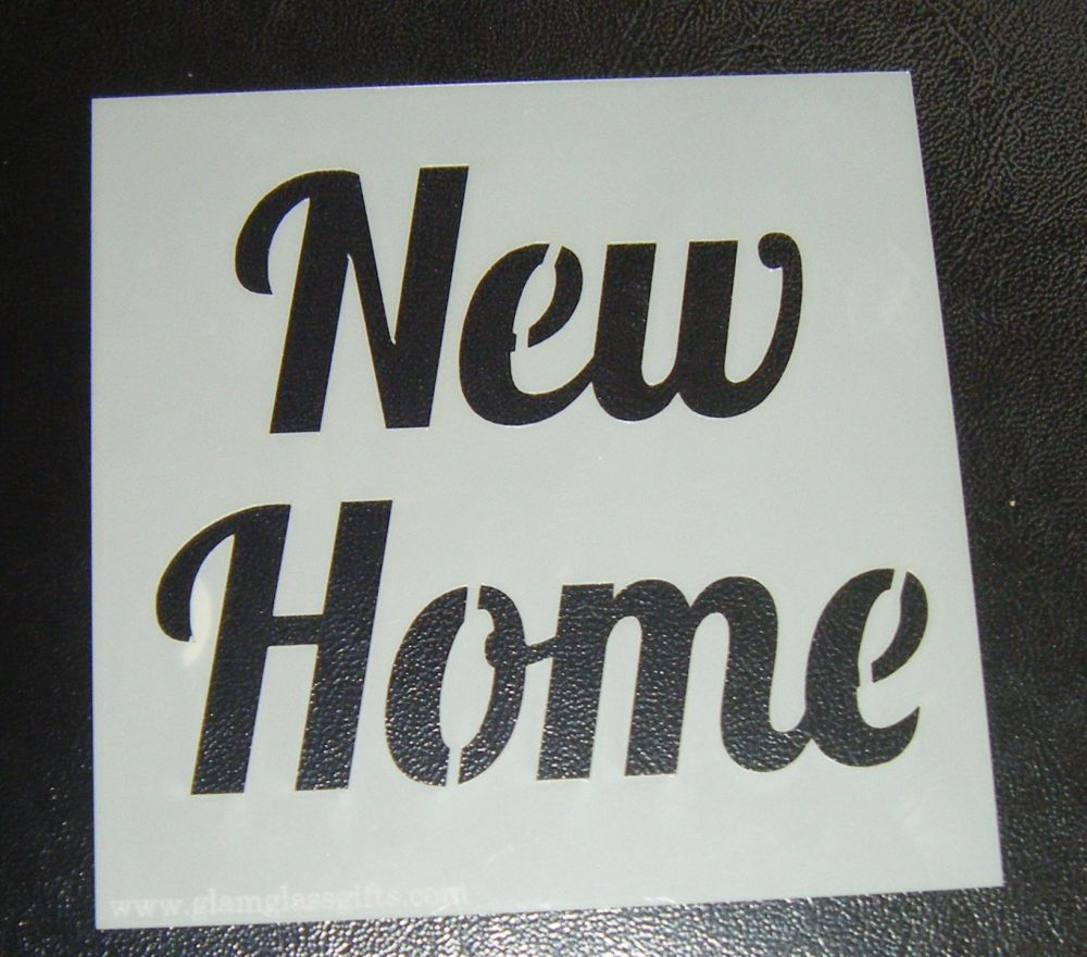 New Home - Cake Decorating Stencil Airbrush Mylar Polyester Film