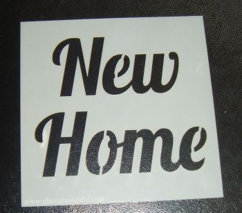 New Home - Cake Decorating Stencil Airbrush Mylar Polyester Film