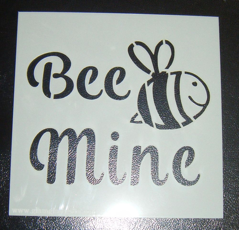 Bee Mine - Cake Decorating Stencil Airbrush Mylar Polyester Film