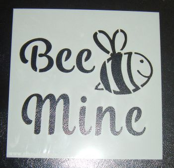 Bee Mine - Cake Decorating Stencil Airbrush Mylar Polyester Film