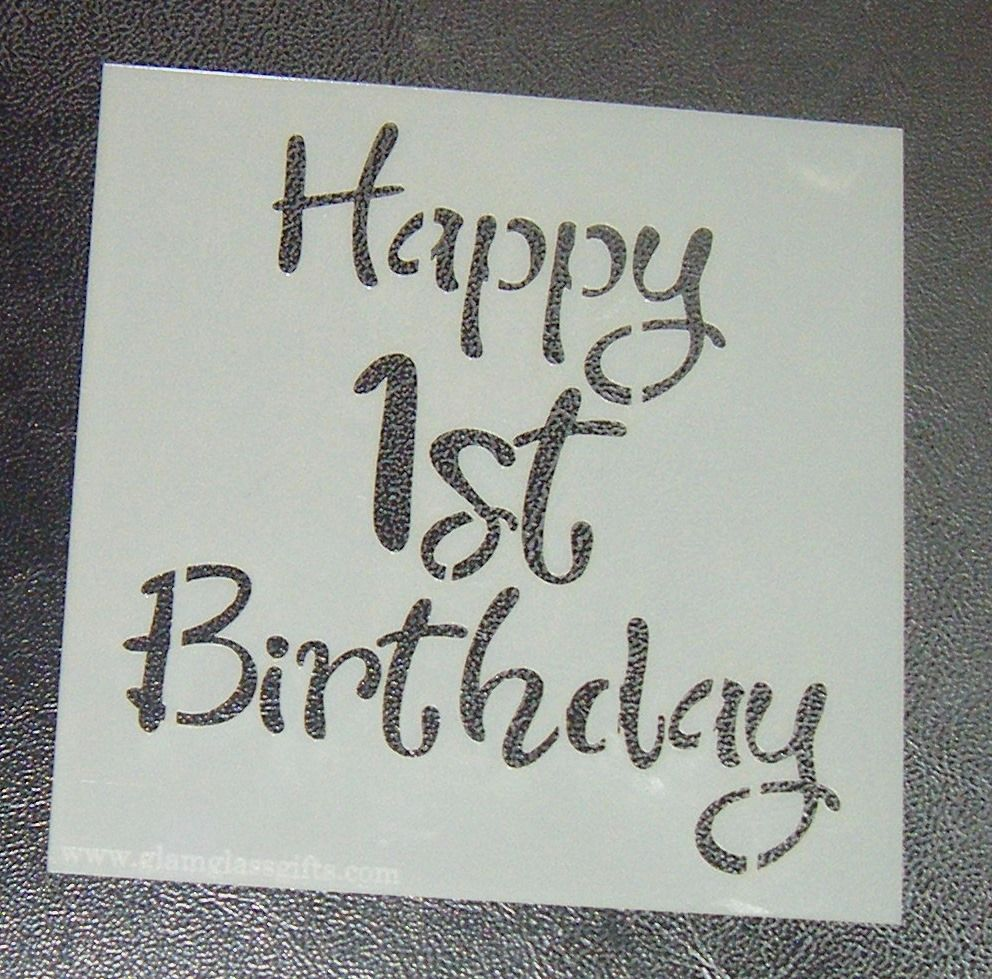 - Cake Stencil