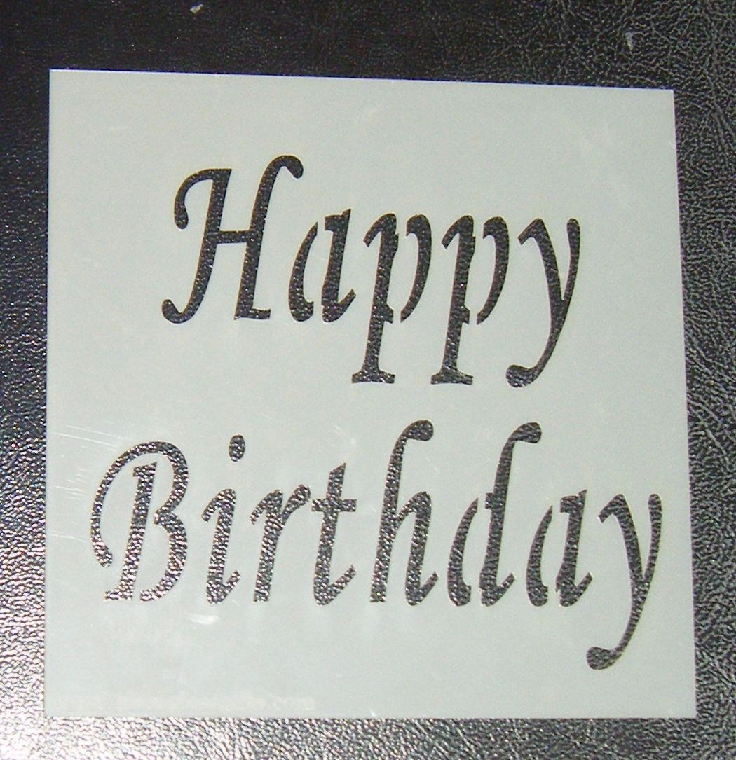 Happy Birthday - Cake Stencil