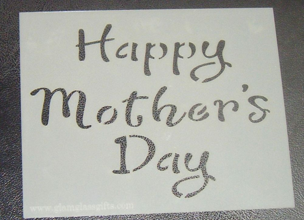 Happy Mother's Day - Cake Stencil