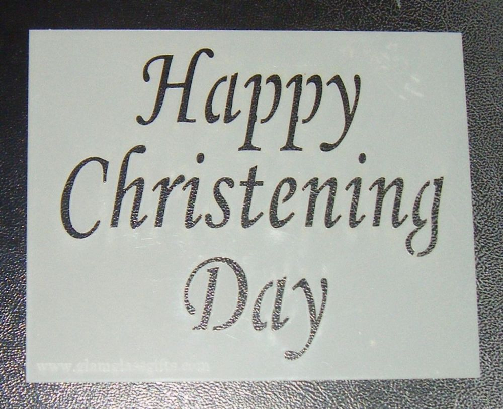 Happy Christening Day - Cake Stencil