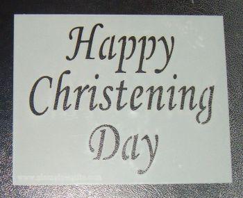 Happy Christening Day - Cake Stencil