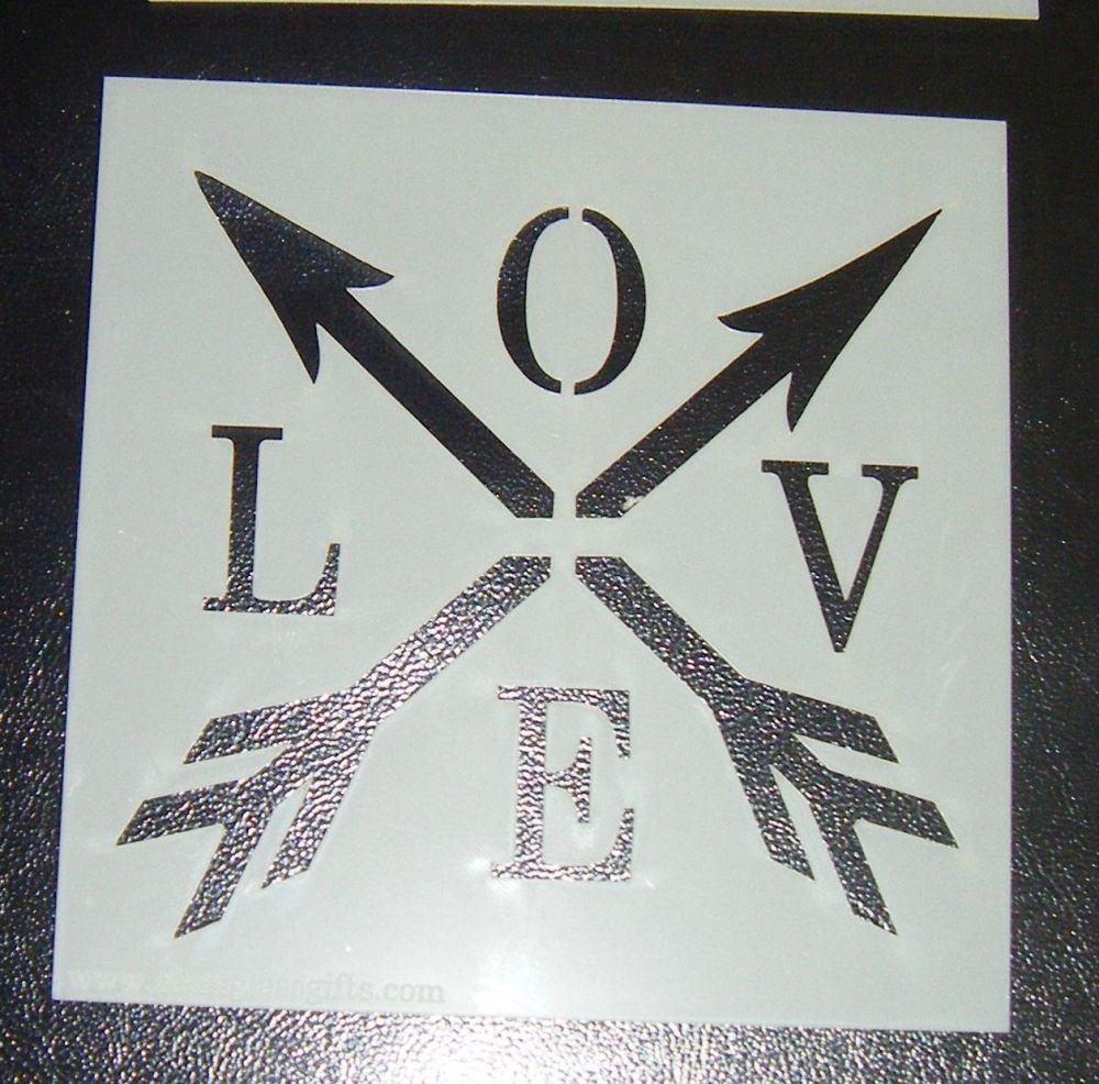 Love Arrow - Cake or Craft Polyester Stencil