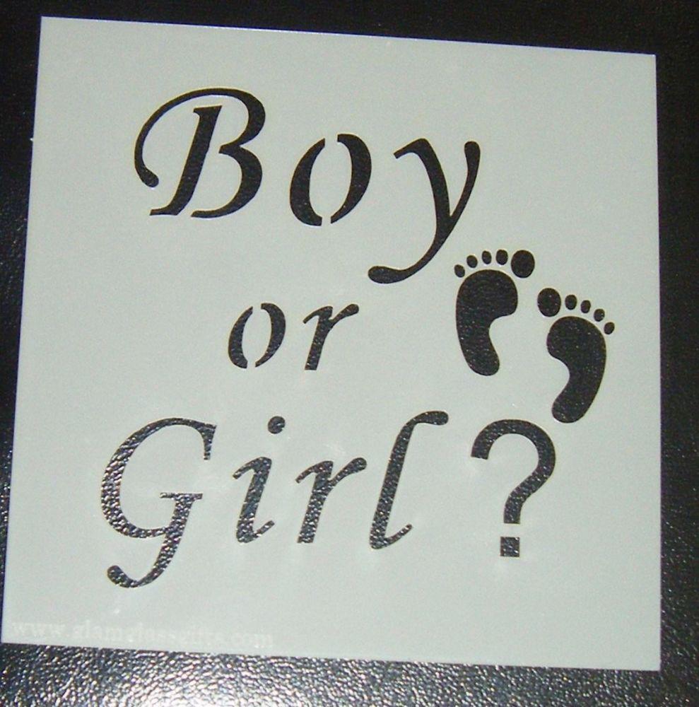 Boy Or Girl - Cake Decorating Stencil Airbrush Mylar Polyester Film