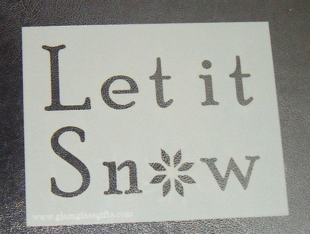 Let It Snow - Cake Stencil