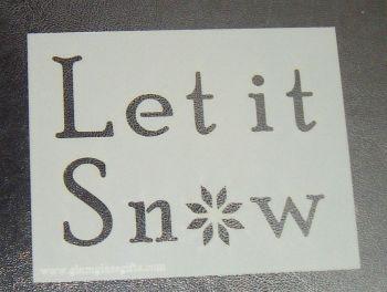 Let It Snow - Cake Stencil