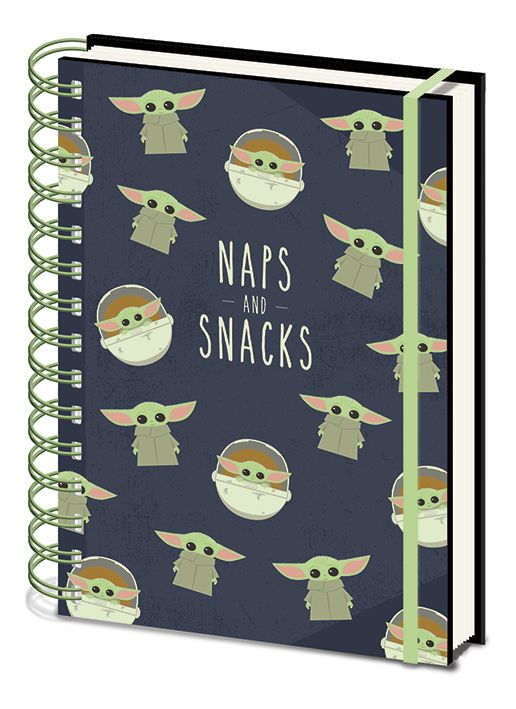 Star Wars A5 Notebook - The Mandalorian - Snacks and Naps