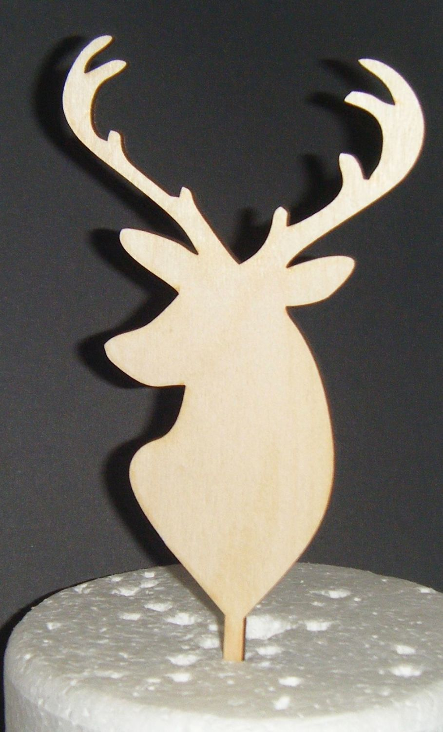 Stag Head Silhouette Cake Topper