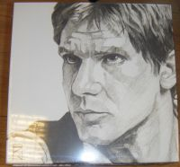 Han Solo Sketch Canvas Wall Art
