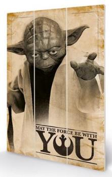 Star Wars Yoda Wooden Panel Wall Art
