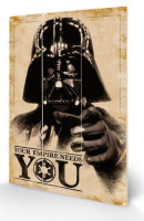 Star Wars Darth Vader Wooden Panel Wall Art