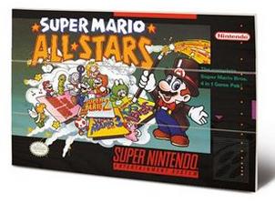 Super Nintendo All Stars Wooden Panel Wall Art